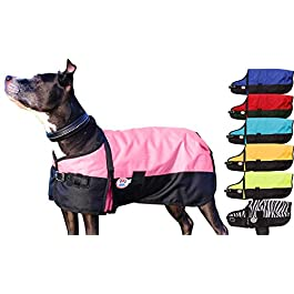 Derby Originals 600D Medium Weight Waterproof Breathable Insulated Dog Coat, X-Large, Pink by Derby Originals