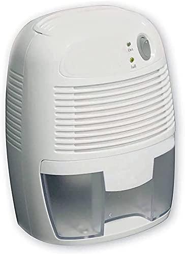 NUEVO deshumidificador, deshumidificador pequeño de 500 ml, deshumidificador ultra silencioso con luz multicolor y ajuste de sincronización (blanco)