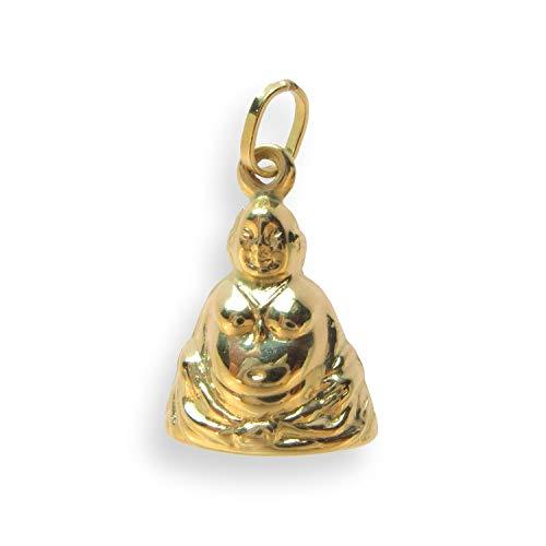 Echtgold Charms Anhänger Buddha 14 Karat Gold 585 (Artikel 208045)
