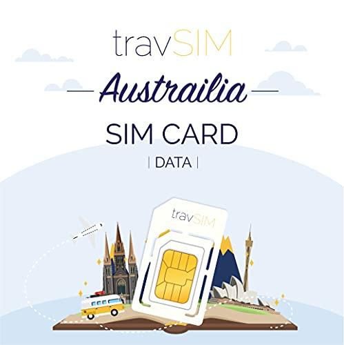 travSIM - Tarjeta SIM Prepaga Australiana(SIM de Datos para-Australia) - 7GB de...