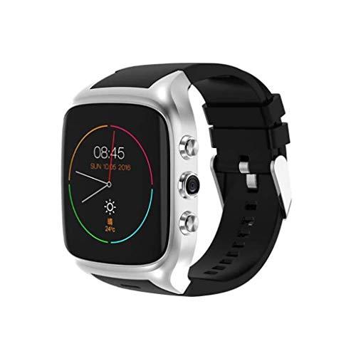 Lg-jz Smart Watch WiFi Camera GPS Android 5.1 Scheda di Sistema Chiamata Smart Watch Navigazione Frequenza cardiaca Analisi Sport Passo Fashion Smart Bracciale (Dimensioni : Silver)