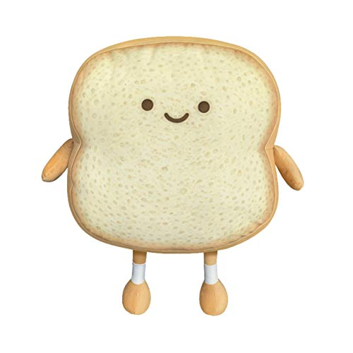 YUESUO Toast Sliced Bread Stuffed Pillow Cotton Food Sofa Pillow Cute Bread Toy for Kids Small Sliced Bread