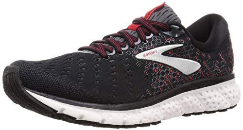 Brooks Mens Glycerin 17 Running Shoe - Black/Ebony/Red - D - 13.0