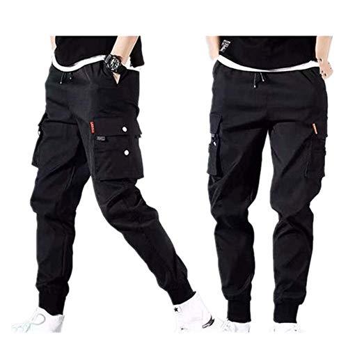 N\P Streetwear - Pantalones de chándal para hombre, con múltiples bolsillos, estilo harén, estilo casual, para hombre, pantalones de chándal