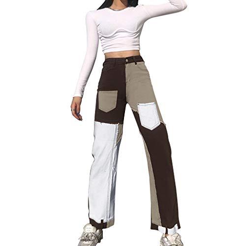 Jeans feminino Y2K Baggy Streetwear Jeans Feminino Y2K Fashion Cintura Alta Jeans Calças Estilo Vintage, Xwx1201225ap02, M