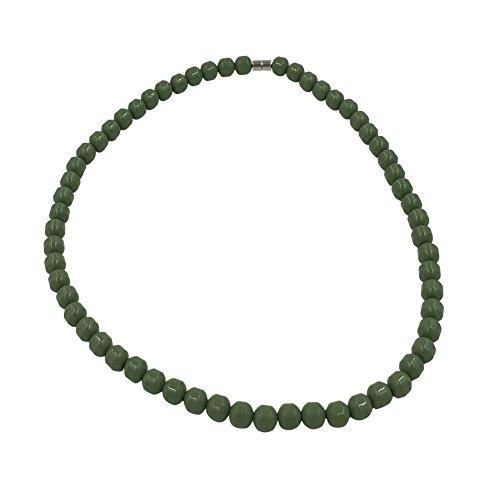 POWER IONICS Collar elástico de turmalina verde con cuentas de iones para la salud (verde)