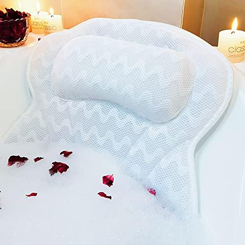 Bath Pillows for Tub 3D Mesh Spa Bathtub Pillow Cushion Rest 6...