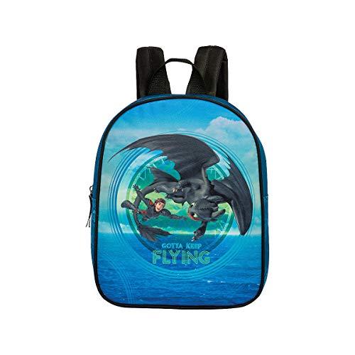 Kinderrucksack Kindergartentasche Kindergartenrucksack Rucksäcke Motiv wählbar z.B. Kompatibel mit Dragons, Prinzessin - für Jungen und Mädchen für Kindergarten oder Kita (Universal Dragons)