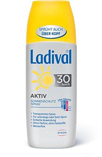 Ladival Aktiv Sonnenschutzspray 30 150ml zuverlässiger Sonnenschutz für alle sportlich aktiven Menschen