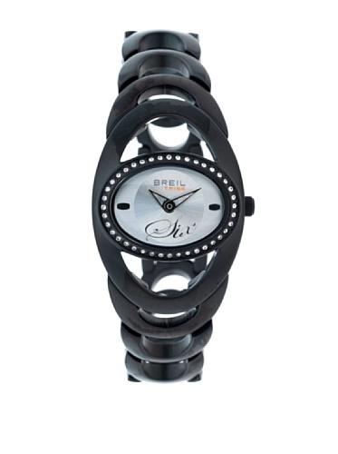 Breil TW0418 - Reloj analógico de Cuarzo para Mujer, Correa de Acero Inoxidable Color Negro