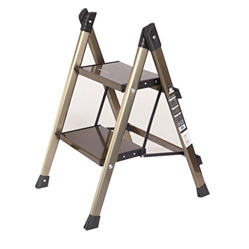 LRZLZY Multifunktionale Aluminium Haushaltsleiter Klapphaushaltsraum integrierte Elemente Trittleiter dreistufiges Ladder kleine Treppe verdickt Stabilität und Sicherheit (Size : 2 Step)