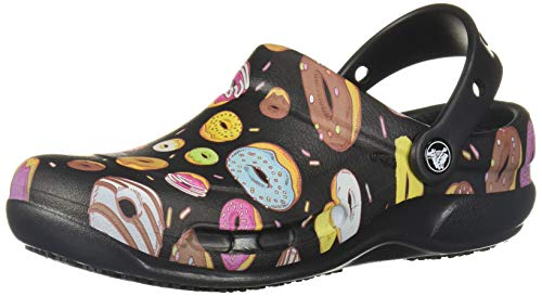 Crocs Bistro Graphic Clog, Zuecos Unisex Adulto, Multicolor (Black/Multi Donuts 0i3), 42/43 EU