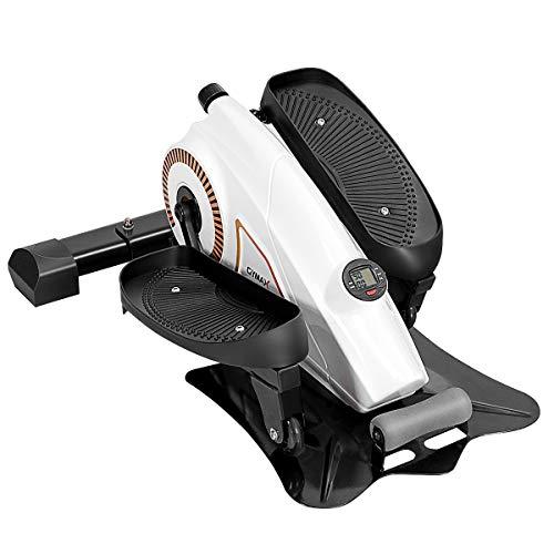 COSTWAY Máquina de Step Elíptica Stepper Portátil con Pantalla LCD y Resistencia Regulable Carga hasta 110kg para Ejercicio Fitness Hogar Entrenamiento