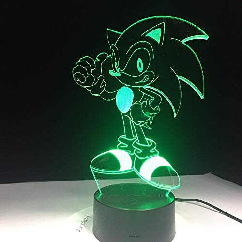Sonic The Hedgehog Figure 3d Led Night Light Game Touch Sensor Color Changing Nightlight for Kids Child Birthday Gift Table Lamp