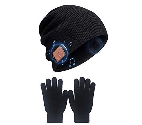 Bluetooth Bonnet chapeau ,Bluetooth casque sans fil casque musique hat mains libres appel téléphonique pour l'exercice de sports d'hiver meilleurs cadeaux de Noël, paquet cadeau de gants de Hat