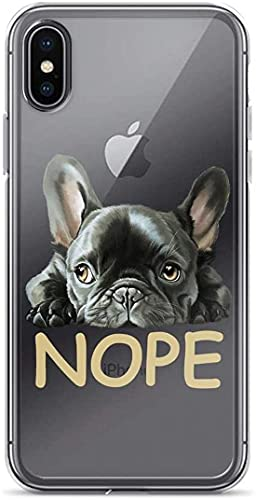 No-Pe Frenchie Pure Clear Case Cover for iPhone X/XS (12 Pro Max.)