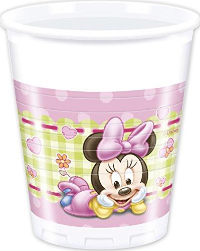 8 Gobelets Bébé Minnie 20 cl - taille - Taille Unique - 227543