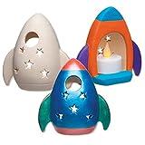 Rocket Ceramic Tealight Holders (Box of 3)