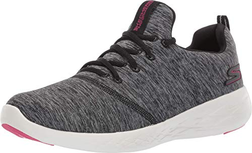 Skechers Women's GO Run 600-15092 Sneaker, Black/White, 6.5 M US