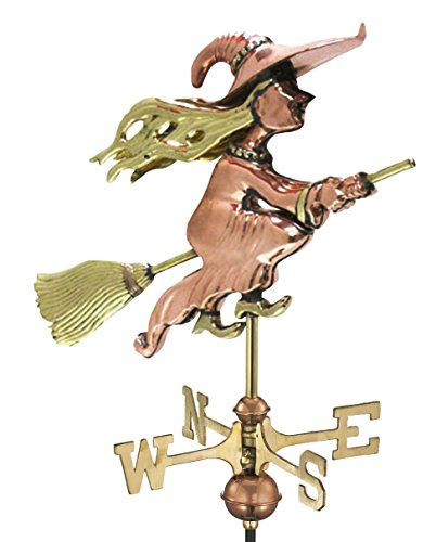 Good Directions 8849PG Witch Garden Weathervane, Polished Copper with Garden Pole