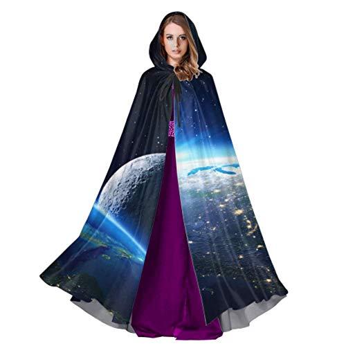 Yushg Escena del Universo con Planetas Mujeres Capa con Capucha Capa para Adultos 59 Pulgadas para Navidad Disfraces de Halloween Cosplay