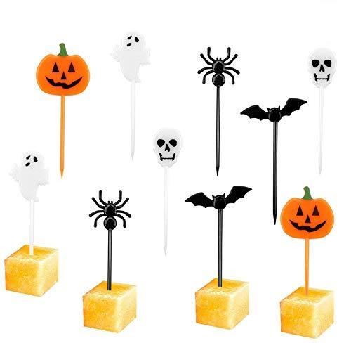 Ledoo Halloween Picks 150Pcs Halloween Cupcake Topper Picks,Kuchen Topper,Kuchendekoration Topper Halloween für Kids Birthday Party Themed Party