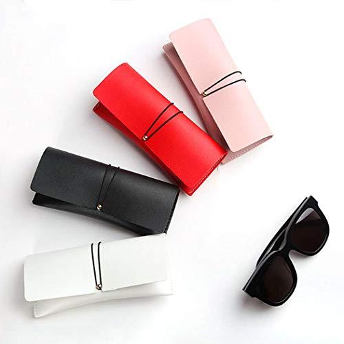 コンパクト メガネケース 眼鏡ケース サングラスケース おしゃれ スリム シンプル 超軽量 かわいい 薄型 1016 (ピンク)