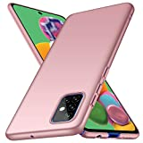 ORNARTO Funda Samsung A51, Carcasa [Ultra-Delgado] [Ligera] Mate Anti-arañazos y Antideslizante Protectora Sedoso Caso para Samsung Galaxy A51(2020) 6,5 Pulgadas Oro Rosa