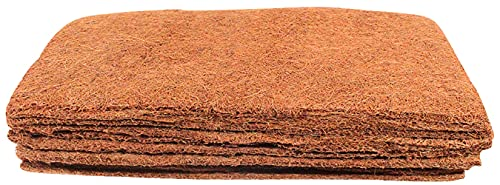 Envelor Coco Grow Mat Natural Growing Media Seed Starting Sprouting Pads Coconut Husk for Planting Microgreens Tray, Micro Herbs & Wheatgrass Hydroponic Fiber Mulch, 10 in. x 20 in. - 10 Pack