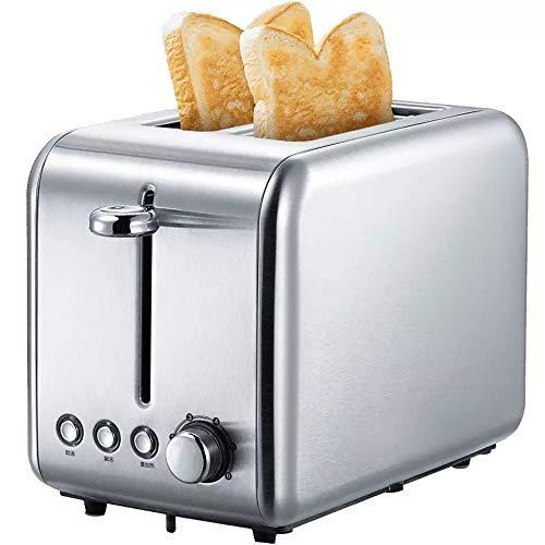 Nye Tostadora de 2 rebanadas, tostadora compacta, con 6 configuraciones para dorar, función de Bagel/descongelar/cancelar, Bandeja para Migas extraíble, para Pan de Desayuno, Plateado