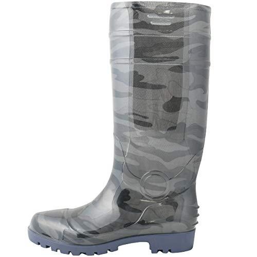 『ワークスタイルエース 先芯入り 耐油底安全長靴 迷彩グレー 26.5cm WS3200』の1枚目の画像