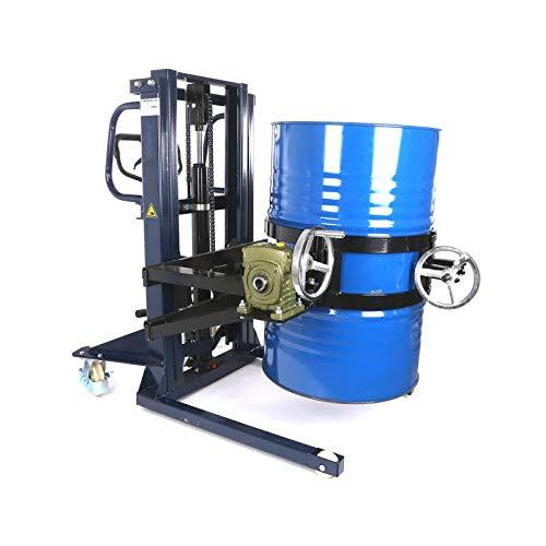 Giratubi Sollevatore di tamburi   350 kg Capacità di carico   Sollevatore di tamburi Gira tamburi Pinza per tamburi   Rotazione e inclinazione fino a 180° o 360°