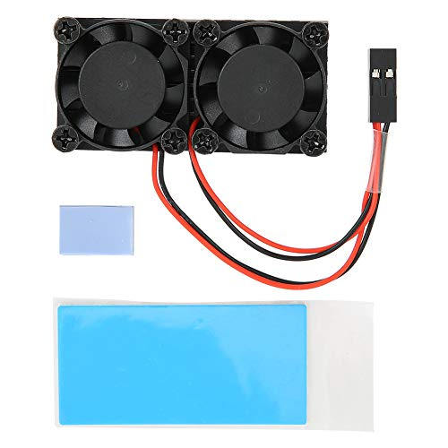 AMONIDA Strong Cooling Fan, 1200MHz Dual Heatsink Fan, Pd 5V for Raspberry pi Accessories