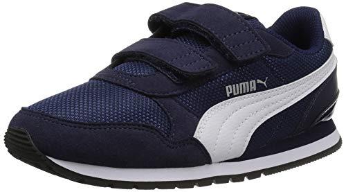 PUMA unisex child St Runner 2 Hook and Loop Sneaker, Peacoat/White, 1.5 Little Kid US