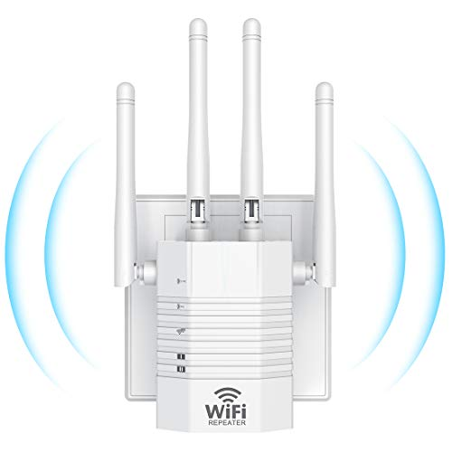 WiFi Range Extender 1200Mbps WiFi Booster AC1200 for The Hourse, Repeater 2.4 & 5GHz Dual Band (1200Mpbs, White)