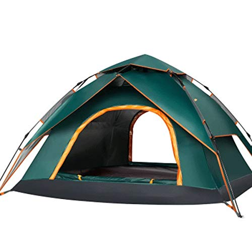 CttiuliZpe Tent, 4 Persons Double Layer Automatic Pop Up Camping Tents Sun Shelter Instant Tent Compact Waterproof Windproof, Perfect for Beach, Outdoor, Traveling, Hiking, Camping, Hunting, Fishing,