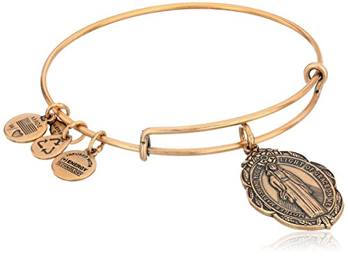 Alex and Ani Mother Mary Charm Bangle in Rafaelian Gold, A14EB21RG