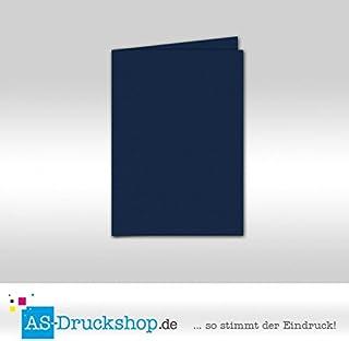 Faltkarte Doppelkarte - Classic Blau 100 Stück DIN A5 B0794ZQ6BR  Personalisierungstrend