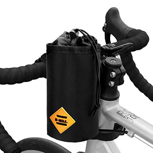 Suruid Bike Water Bottle Holder Insulated Bike Carrier Bag, Handlebar Attachment Cup Holder Bicycle Water Bottle Drink Holder for Drinks, Food, Snack Storage
