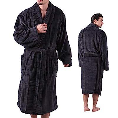 ALL AOER Bathrobe for Men, Sleepwear Nightwear Robes, Terry Cloth Big Tall Lightweight