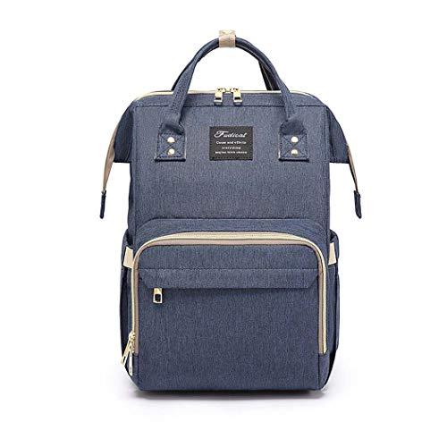 GJQ Baby-Windel-Wickeltasche, große Kapazitäts-Multi-Funktions-Spielraum-Rucksack, Wasser Hoch-Windel-Tasche Rucksack-Spielraum-Rucksack mit Wicke Beweglich, stilvoll und haltbar,E