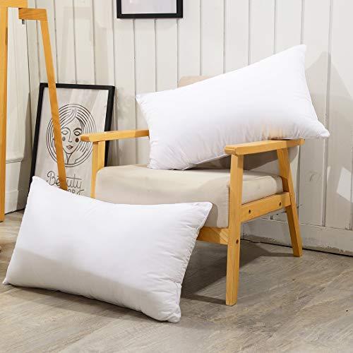 Polyester Slaapkussen Voor Binnen, Verstelbaar Gewatteerd Bedkussen Voor Volwassenen, Katoenen Kussensloop Nek En Buikzijde Slaap, 2 Verpakkingen,40 * 70cm