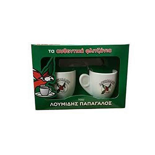 2er Set Mokkatassen mit Unterteller in Geschenkbox - passend zum Loumidis Mokka Kaffee aus Griechenland Mocca Tasse Geschenk Set