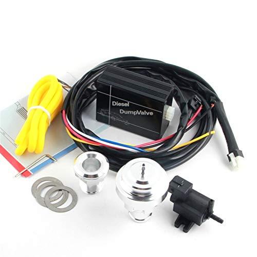 XIAOLUTIANM Válvula Diesel ELÉCTRICO (25 mm) Válvula de Apagado Turbo 1.8T 2.0T Válvula de volcado Diesel (Color : EBOV, Size : Gratis)