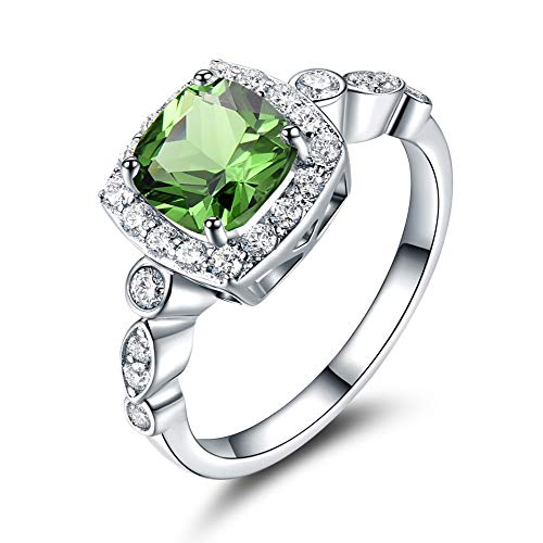 Sterling Silver Ring Blauwe Saffier ringen voor vrouwen Birthstone Gifts Emerald Trouwring Engagement Jewelry Gift,10