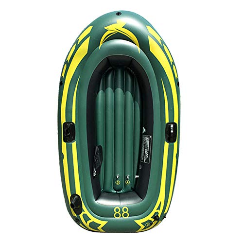 Yocalo Inflatable Boat Series,raft Inflatable Kayak, Fishing Boat Kayak,1/2 Person Boat with Aluminum Oars, Cushion, Rope,Repair Patch and High Output Hand Pump