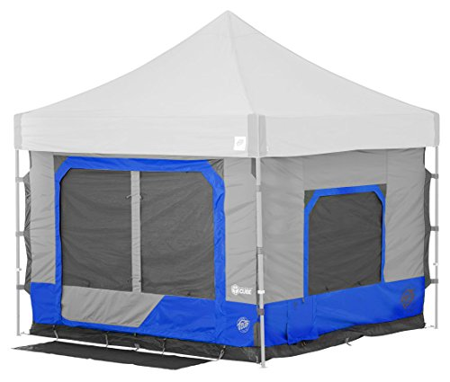 E-Z UP Camping Cube 6.4, Converts 10' Straight Leg Canopy into Camping Tent, Royal Blue
