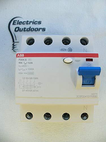 ABB FI-Schutzschalter 4-polig, F204A-63/0,3