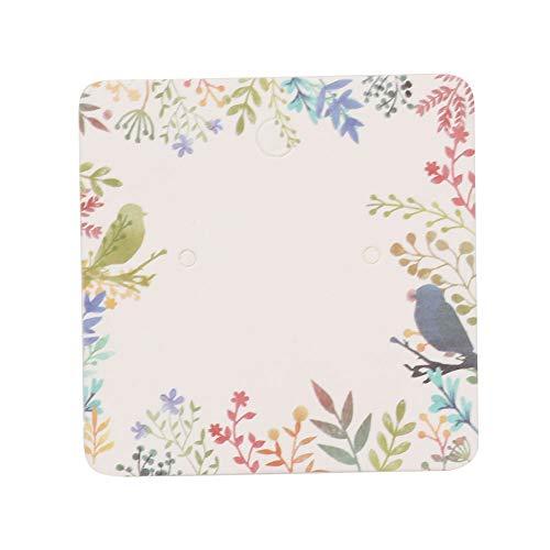 Joyería Cards 100 tarjetas de almacenamiento de pendientes no tóxicas, para tiendas minoristas (ramas de colores)