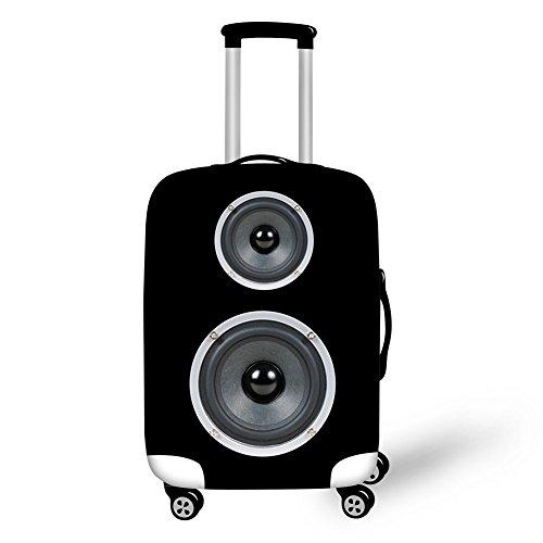 Dual-Subwoofer-Soundbox Elastisch Kofferhülle Kofferschutzhülle Kofferschutz Kofferbezug Gepäck Cover Schutz Bezug Luggage Cover Reisekoffer Hülle für 18-28 Zoll Koffer mit Reißverschluss L(26
